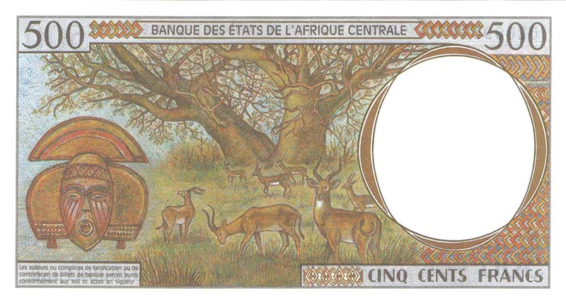 Puc1 CentralAfricanStates 500Francs 1994
