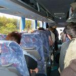 Rückreise im überfüllten Bus