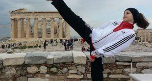 Celina in Athen. Nach der Europameisterschaft 2013. (Fotograf: D. Schmidt)