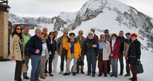 Гости из далекого Баден-Бадена на горном плато Кавказа.